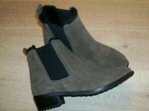 NEW EMU ELLIN Ankle Boots Suede / Merino Wool Size UK  6 - Smoke / Brown