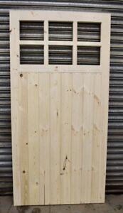 Wooden Side Garage Door Heavy Duty Frame, Ledge & Braced 6 Pane