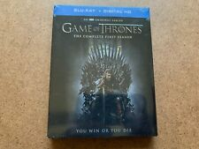 GAME OF THRONES COMPLETE FIRST SEASON BLU RAY + DIGITAL HD NEW & SEALED