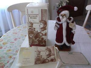 "Limited Edition Robert Raikes Wooden KRINGLE BEAR  Santa  Orig Box Applause 13"""