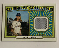 2021 Topps Heritage Baseball Josh Hader Clubhouse Collection #CCR-JH Relic Patch