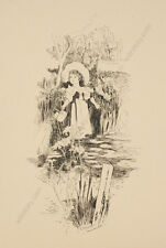 "E. Francis (English female artist) ""Children Book Illustration"", Ink Drawing"