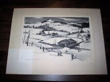 Paul Sample The Slope Near The Bridge Signed Original Limited Edition Lithograph