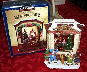CHRISTMAS WATER GLOBE  WINDOW PANE - LIGHTED MUSICAL DISPLAY