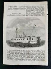 1862 Druck 38 Hafen von Venedig Italien Schwimmende Batterie Marine