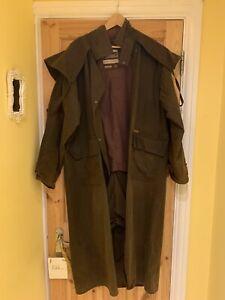 Driza-bone full length brown riding coat Men size 5/Chest 105cm/ size M