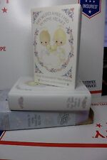 PORCELAIN CONFIRMATION BIBLE and HOLDER Precious Moments 1990