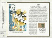 Foglio CEF 1er Giorno Francia 1885 Vaccino Contro Rage 1985