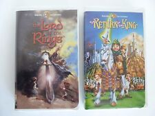 The Lord of the Rings & Return of the King Animated 2 VHS Movie Video Cassettes