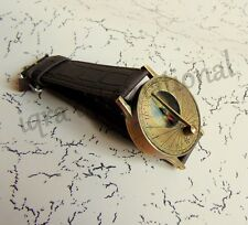 Antique Style Steampunk Wrist Brass sundial compass beautiful nautical gift item