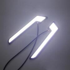 2pcs Universal COB White LED L - Shape DRL Daytime Running Lights Lamps COB