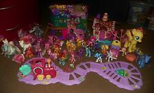 Huge Lot MY LITTLE PONY Crystal Palace Castle PLAYSETS Ponies TRAIN Remote Car