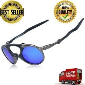 Polarized Iridium Round Sunglasses Madman Alloy Cycling Sport Jogging Glasses