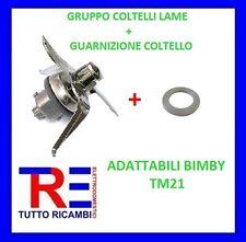GRUPPO COLTELLI LAME + GUARNIZIONE COLTELLO ADATTABILI BIMBY TM21