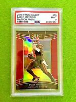 BAKER MAYFIELD PRIZM ROOKIE CARD GRADED PSA 9 BROWNS # /99 SP RC 2018 Select RED