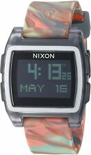 Nixon Women's Base Tide A11043178-00 38mm Black Dial Silicone Watch