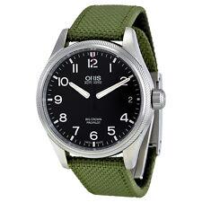 Oris Big Crown Pro Pilot Date Black Dial Mens Fabric Strap Watch 75176974164FS