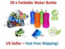 20x Flexible Collapsible Foldable Reusable Water Bottles Ice Bag Pouch BPA Free