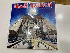 IRON MAIDEN 3 LP SLAVE IN ZWOLLE BLUE VINYL + POSTER