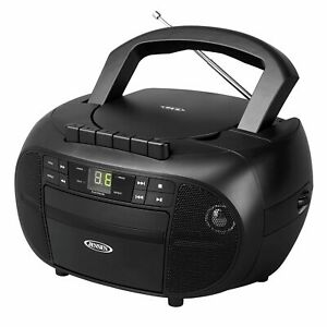 JENSEN CD-550 Portable Stereo CD Player Cassette Recorder with AM/FM Radio