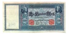 1910 Germany / German empire HUGE 100 MARK banknote  Red Seal