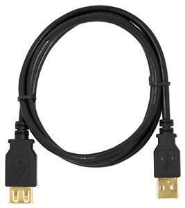 mumbi USB 2.0 Kabel Verlängerungskabel Stecker auf Buchse Kupplung geschirmt 2m