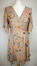 Asos Womens Floral Dress, Size 16, Pink, Brand New With Tags