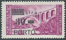 1946 OCCUP JUG ISTRIA E LITORALE SLOVENO SEGNATASSE PORTO 30 LIRE MH * - UR45