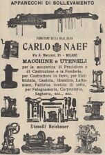 Z2924 Macchine utensili CARLO NAEF - Milano - Pubblicità d'epoca - 1909 old ad