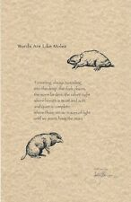Jane Yolen Signed Limited Edition Poetry Broadside - 'Words Are Like Moles'