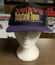 Vtg Evander Holyfield - Mike Tyson 2 SnapBack hat cap BOXING MGM Grand 1997
