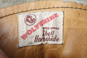 Vintage 1960s Horsehide Boots by Wolverine, 8.5 for Red Wing Fan 2!