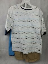 NEW BOYS SIZE 8 BEVERLY HILLS POLO CLUB 3 PIECE SHORT SET 2 shirts nautical (24)