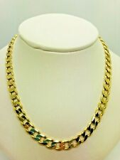 9ct Yellow Solid Gold Curb Chain - 20""