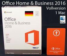 Microsoft Office Home & Business 2016 VERSIONE COMPLETA BOX 1 Mac tedesco OVP NUOVO