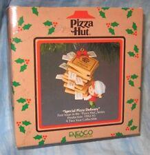 ENESCO TREASURY ORNAMENT ~ PIZZA HUT ~ SPECIAL PIZZA DELIVERY ~ 1992 *NEW