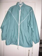 Lady's jacket. size M, turquoise polycotton with white 'fleecy' lining
