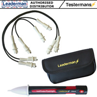 Leaderman LDM-JLD1 4 Jump Leads R1 R2 Testing + LDM1AC Voltage Detector + LDMC50