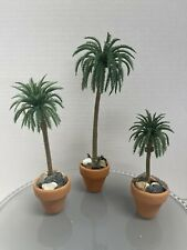 New ListingMiniature scale 1:12 set of 3 palm trees for dollhouse or fairy garden