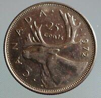 1972 Canada quarter - 25 cent coin