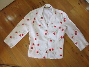 review  white roses print blouse linen cotton  10