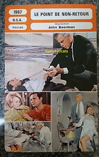 US crime Movie Point Blank Lee Marvin Angie Dickenson French Film Trade Card