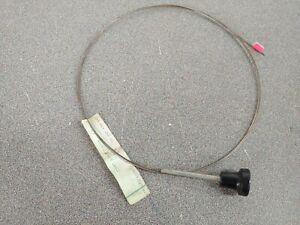 """NOS ORIGINAL GENUINE PORSCHE 356C 356SC HOOD RELEASE CABLE WITH KNOB 73"""" 1"""