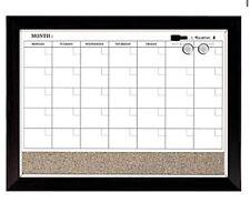 "Quartet Magnetic Combination Calendar, Dry Erase 17"" x 23"" Wood Frame, NEW!"