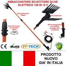 ABBACCHIATORE OLIVE SCUOTITORE RACCOGLI SCUOTIOLIVE ELETTRICO 3 METRI 12V 140 W