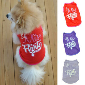 Pet Clothes Cute Letter Stretch T-Shirt Small Dog Cat Soft Cotton Tops Pullover