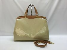 "Auth Louis Vuitton Monogram Brea MM Vernis 2 Way Shoulder Handbag 9E010070F"""