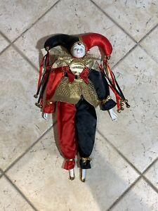 Harlekin Porzellan Puppe Sammlerpuppe