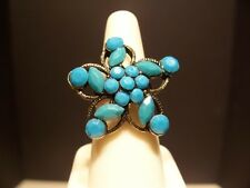 New, Bohemian Antique Style Ring, Turquoise star shape