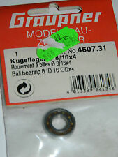 vintage GRAUPNER 4607.31 ball bearing ROULEMENT à BILLES KUGELLAGER 8 ID 16 x 4